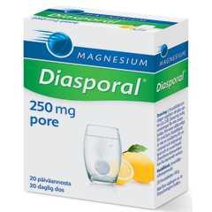 Diasporal 20 kpl Magnesium 250 Aktiv