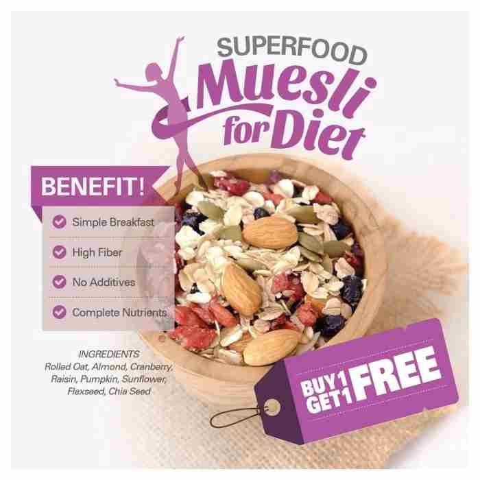 Super Food Muesli BUY 1 GET 1 FREE (500gr x 2pc)