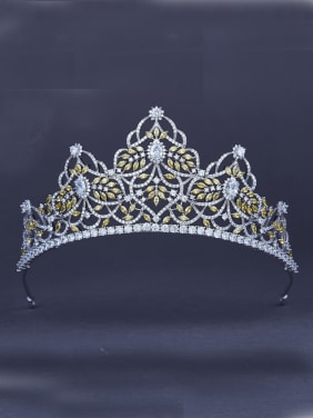 Platinum Plated Yellow Zircon Wedding Crown