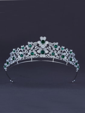 Flower style with Platinum Plated Zircon Wedding Crown