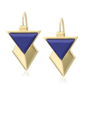 Gold Plated Zinc Alloy Triangle Gold Beautiful Drop drop Earring