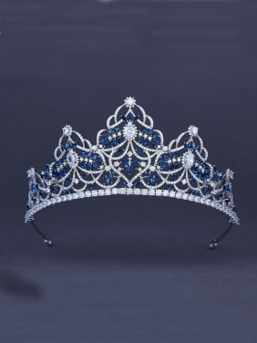 Platinum Plated Zircon Navy Wedding Crown