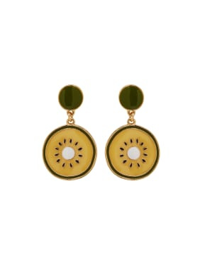 Multicolor Personalized Youself ! Gold Plated Zinc Alloy  Drop drop Earring