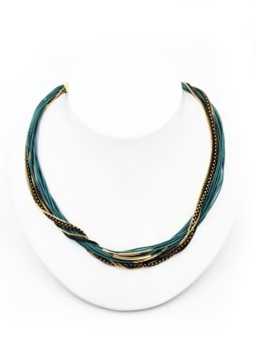 New design Gold Plated Copper  Choker in Multi-Color color
