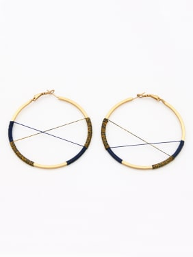 The new  Gold Plated  Round Hoop hoop Earring with Multicolor