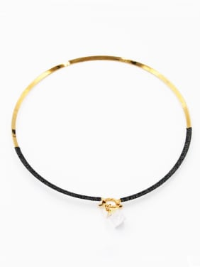 Personalized Gold Plated Multicolor Round Carnelian Choker