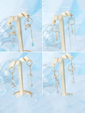 Alloy With Acrylic Trendy  Length  Tassels Earrings