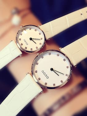 GUOU Brand Simple Mechanical Lovers Watch