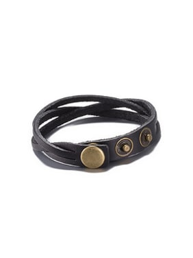 Retro Artificial Leather Ropes Bracelet