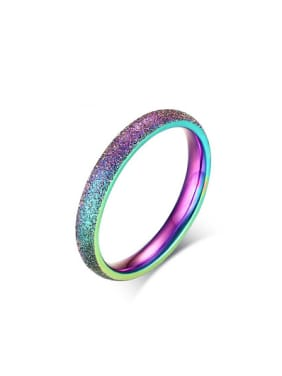 Fashionable Colorful Geometric Shaped Titanium Ring