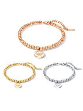 Stainless Steel With Rose Gold Plated Simplistic Charm heart Bracelets