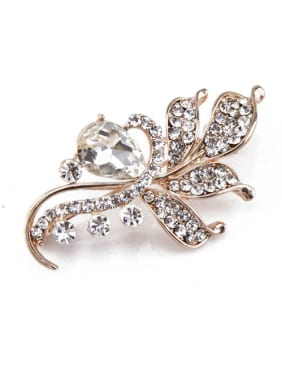 Rose Gold Crystals Brooch