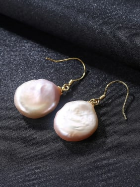 Pure silver Baroque Pearl  special shaped Earrings