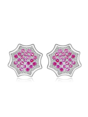 Fashion Accessories Amethyst Geometric Stud Earrings