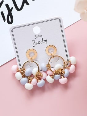 Alloy With 18k Gold Plated Trendy Charm Earrings