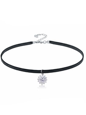 Stainless Steel With Fashion Flower Necklaces