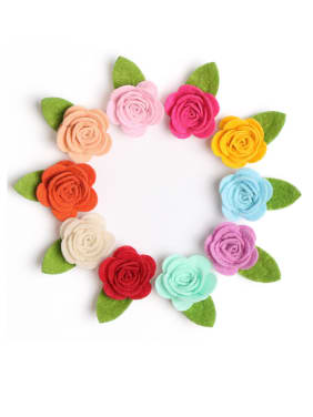 Children's hair accessories: non-woven rose hairpin