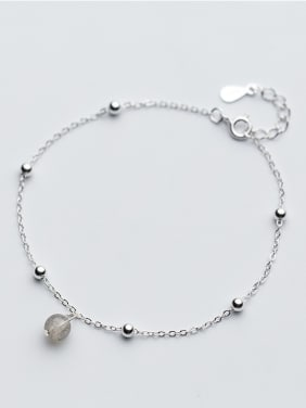 Temperament Round Shaped Stone S925 Silver Bracelet
