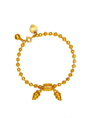 Ethnic style Beads Gold Plated Bracelet