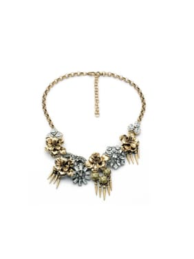 Retro Flower Alloy Necklace