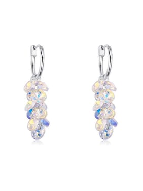 Fashion Swarovski Crystals Stack Alloy Drop Earrings