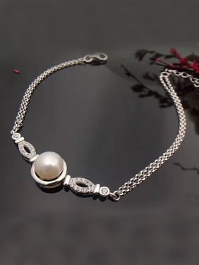 Freshwater Pearl Two-layers Bracelet