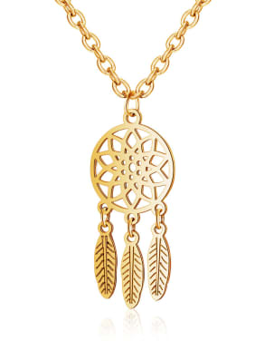 Stainless Steel With Gold Plated Bohemia Irregular Necklaces & Pendants