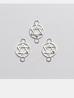 925 Sterling Silver With Silver Plated Simplistic Geometric Star Connectors