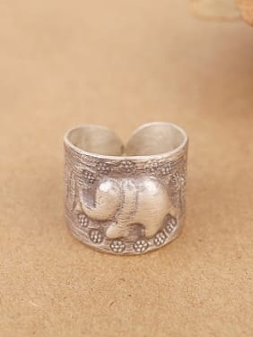 Retro Elephant God Handmade Ring