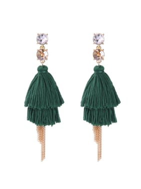 Bohemia Style Personality Women Long Tassel Drop Earrings