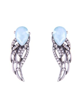 Retro Style Alloy Angle Wings-shape Stud Earrings