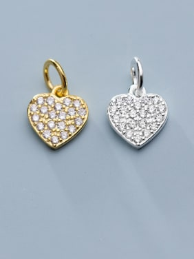 925 Sterling Silver With Cubic Zirconia  Simplistic Heart Pendants