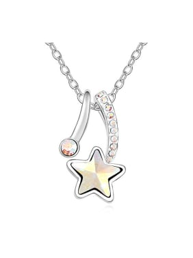 Fashion Star Swarovski Crystal Pendant Alloy Necklace