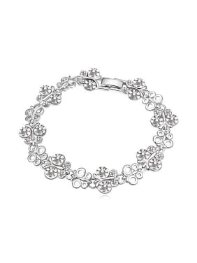 Fashion Cubic Swarovski Crystals Butterfly Alloy Bracelet