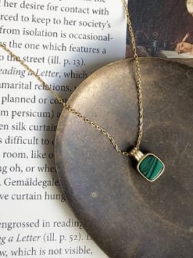 Sterling silver turquoise gold necklace