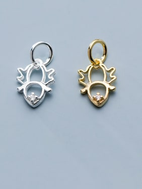 925 Sterling Silver With Artificial zircon  Simplistic Hollow Bee Pendants