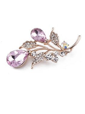 2018 Rose Gold Crystals Brooch