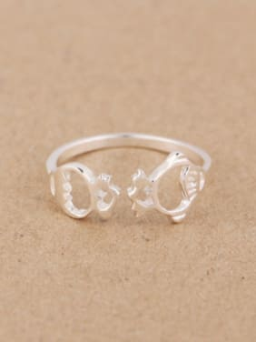 Personalized Hollow Tiny Fish Opening Midi Ring