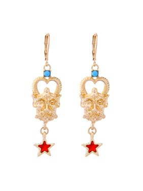 Retro Style Personality Gold Plated Women Drop Earrings