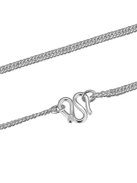 Simple 990 Silver Children Single Necklace