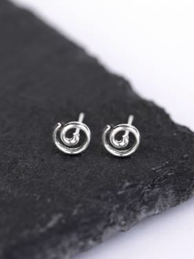 Simple Tiny Silver Stud Earrings