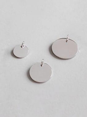 925 Sterling Silver With Simplistic Round Pendants
