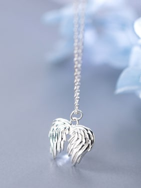 925 Sterling Silver Angel wings Cute  Necklaces