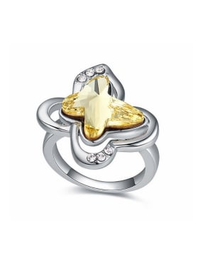 Fashion Butterfly-shaped Swarovski Crystal Alloy Ring