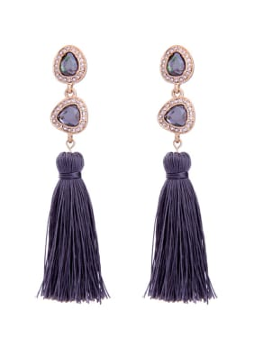 Elegant national Tassel Drop Chandelier earring