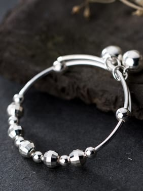 925 Sterling Silver With Cute bell New Baby Bangles