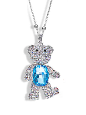 Bear-shaped Swarovski Crystal Necklace