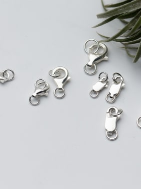 925 Sterling Silver With Platinum Plated Classic Clasps