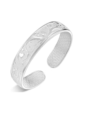 Bohemia style Little Heart-etched 999 Silver Opening Bangle