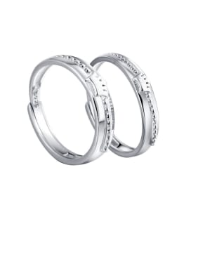925 Sterling Silver Simplistic Crown Lovers Free Size  Rings